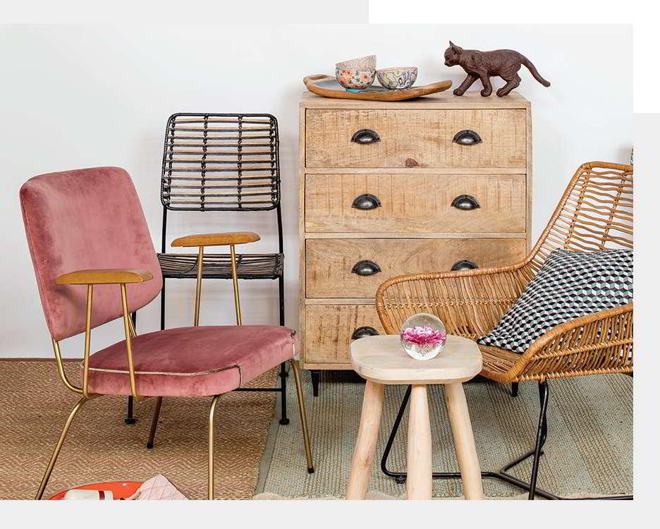 muebles de hierro y madera chehoma