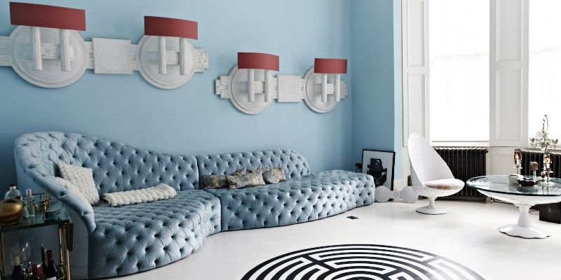 salon con decoracion estilo surrealista